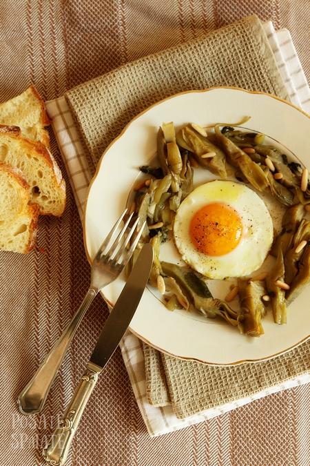 Carciofi con l'uovo_Posate Spaiate