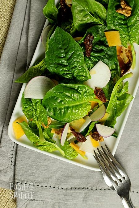 Insalatina autunnale con spinacini e zucca_Posate Spaiate