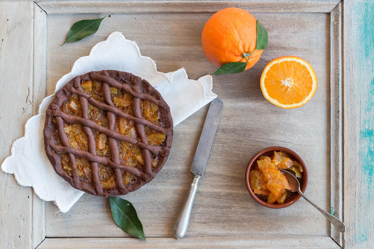 Crostata al cacao e marmellata di arance_Posate Spaiate