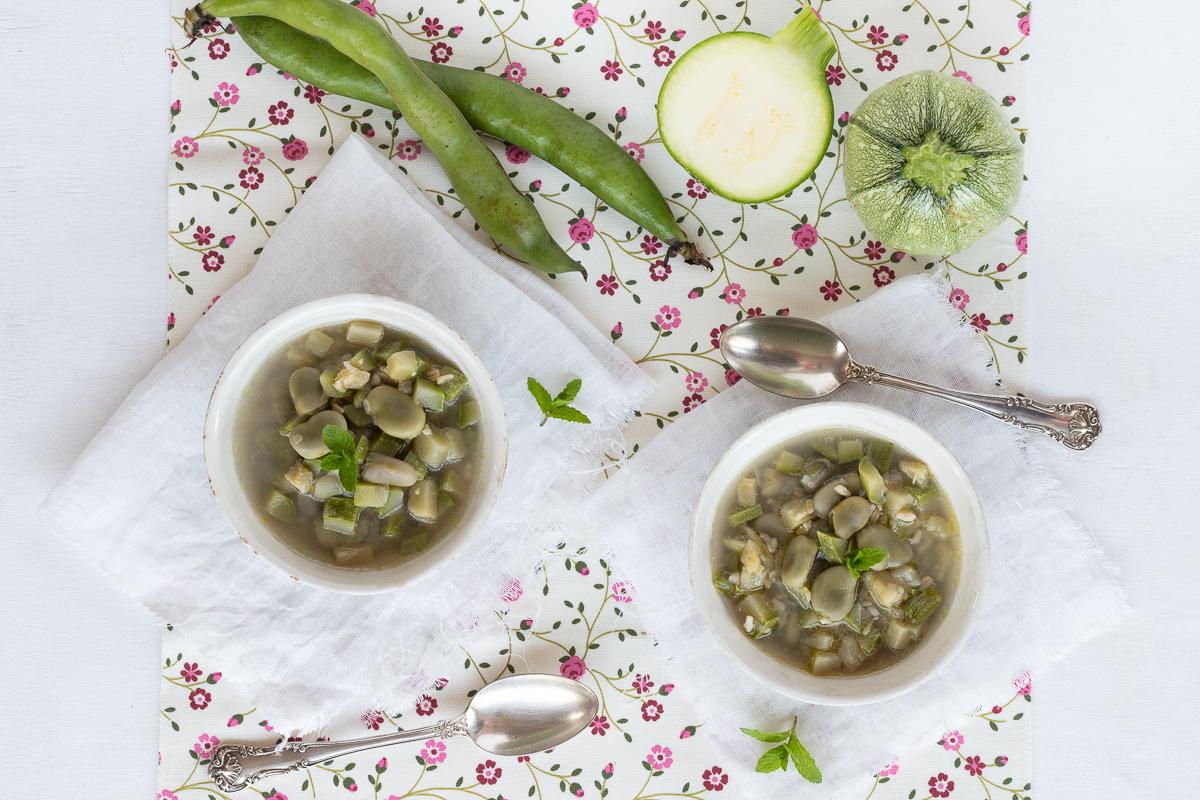 Minestra di zucchine e fave_Posate Spaiate