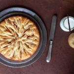 La torta di mele con latte alla vaniglia
