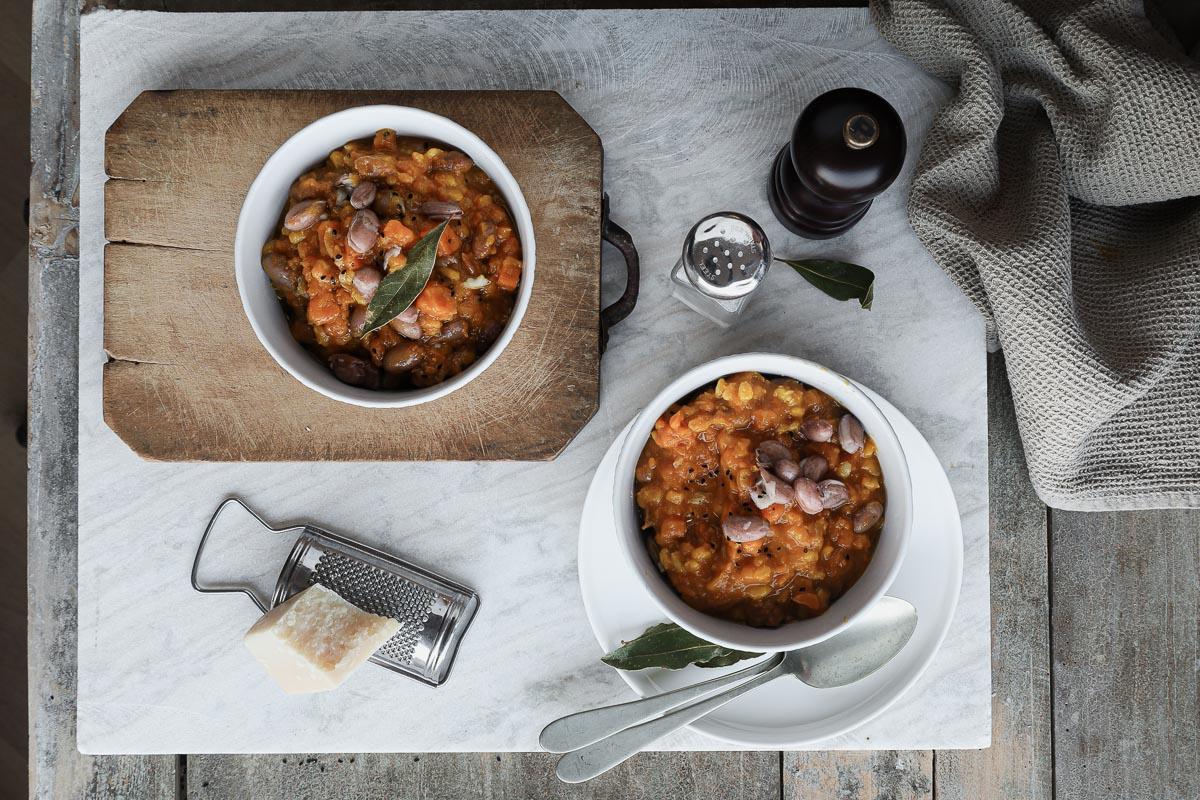 Zuppa cremosa con fagioli e orzo_Posate Spaiate