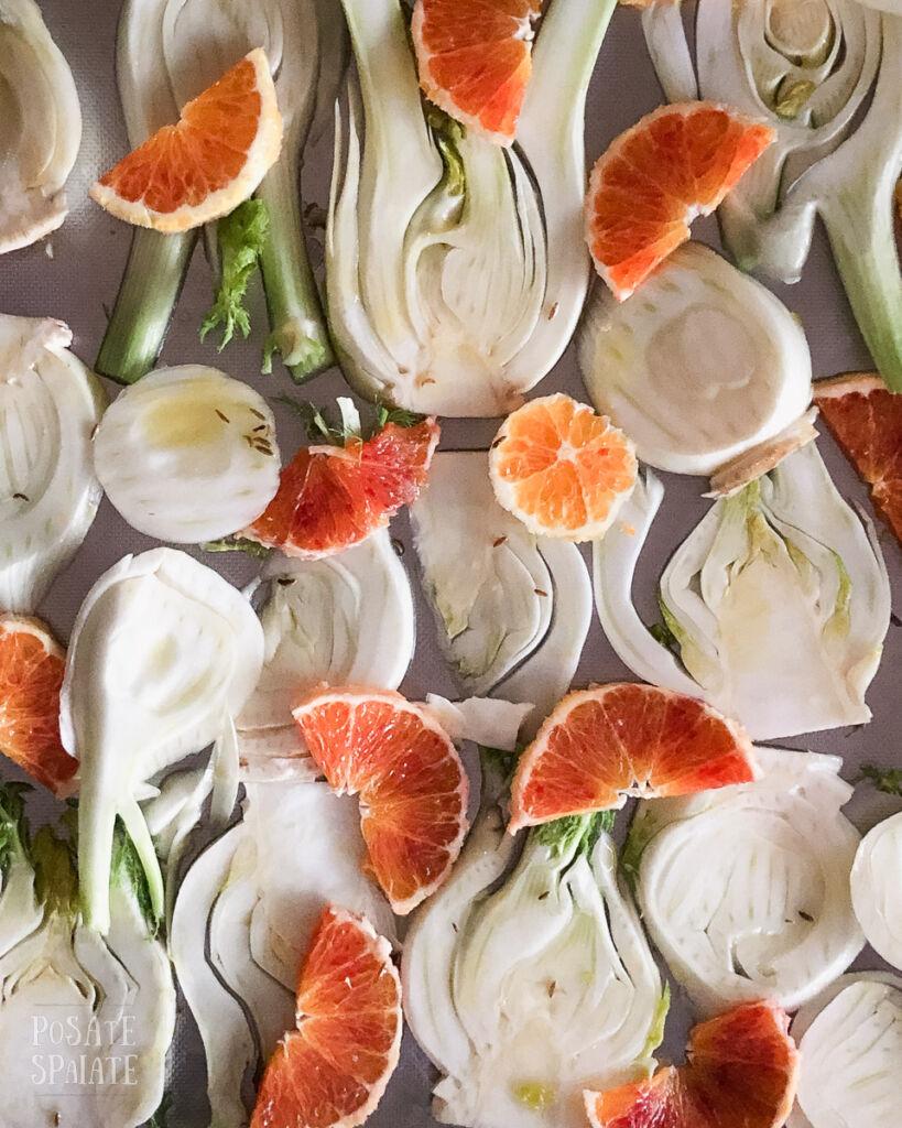 finocchi al forno con le arance_Posate Spaiate